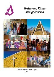 Januar-april 2013 - Vestervang Kirke