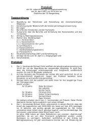Protokoll - TG Rangenberg