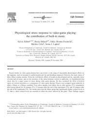 Physiological stress response to video-game playing - École d ...