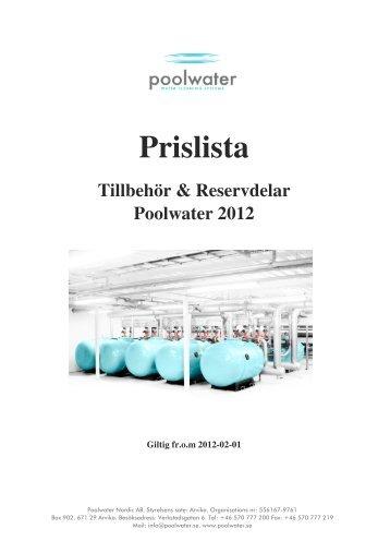 Poolwaters Prislista