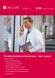 Private Krankenversicherung – kein Luxus!