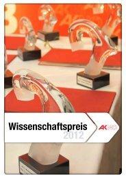 Wissenschaftspreis 2012 - Arbeiterkammer