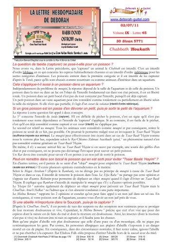 Volume IX - lettre n°45 - Association Deborah Guitel