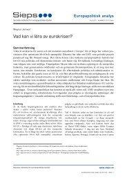 Vad kan vi lära av eurokrisen? (2012:9epa - Sieps