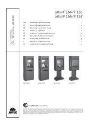 Manual de instalación - Jøtul stoves and fireplaces