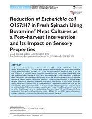 Reduction of Escherichia coli - International Association for Food ...