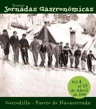 JORNADAS GASTRONOMICAS 2008 - Ayuntamiento de Cercedilla