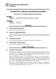 Protokoll från styrelsemöte, 2011-04-27 - Befälsföreningen Militärtolkar
