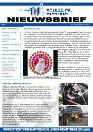 nieuwsbrief februari 2008 - Stichting Heartbeat