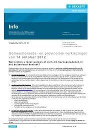 14 oktober 2012 - Bekaert Seniorenclub vzw