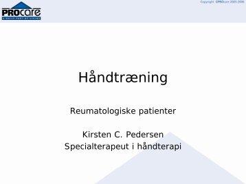 Håndtræning - Håndterapi
