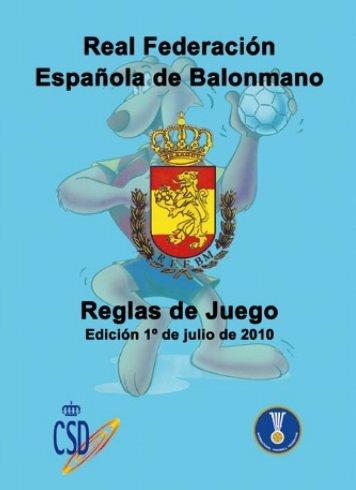 Reglas de Juego 2010 - Real Federación Española de Balonmano
