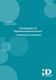 Handlingsplan för Digitaliseringskommissionen – inriktning och ...