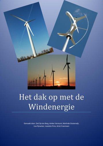 Het dak op met de Windenergie - Duurzaam Almere