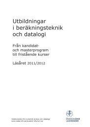 Läs broschyren - Numerisk analys och datalogi - Stockholms ...