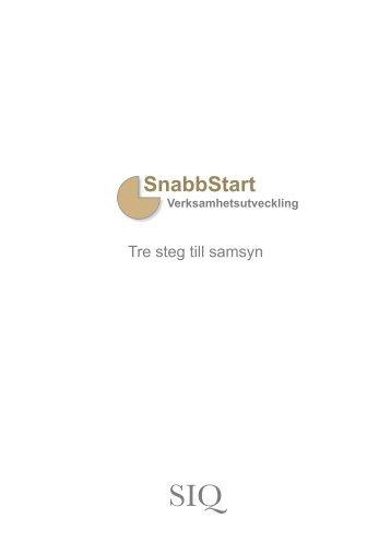 SnabbStart - Institutet för Kvalitetsutveckling, SIQ