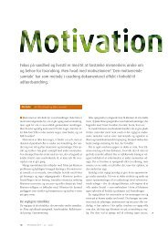 Artikel motivation - Cohesion Consulting