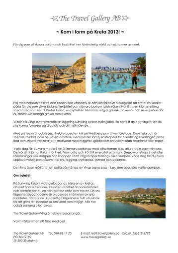 Kreta 2013.pdf - The Travel Gallery