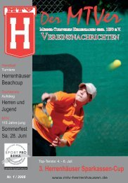 3. Herrenhäuser Sparkassen Cup 2008 - MTV Herrenhausen