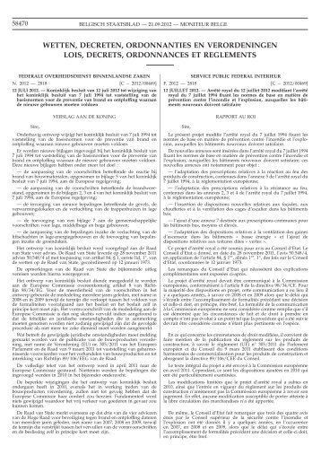 Koninklijk besluit van 12 juli 2012 tot wijziging van het koninklijk ...