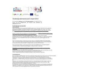 Onderwijsvakmansroute 6 maart 2012 - UNIZO Ondernemendeschool
