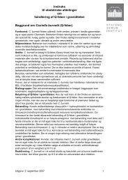 Instruks for håndtering af gravide med Q-feber - Institut for Klinisk ...