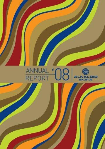 Annual report 2008 - Alkaloid Pharmaceutical Factory