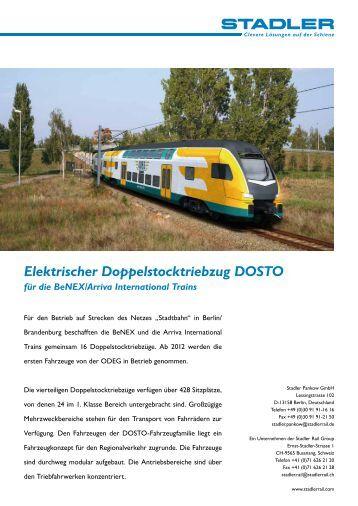 Elektrischer Doppelstocktriebzug DOSTO