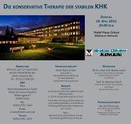 DIE KONSERVATIVE THERAPIE DER STABILEN KHK DIENSTAG ...