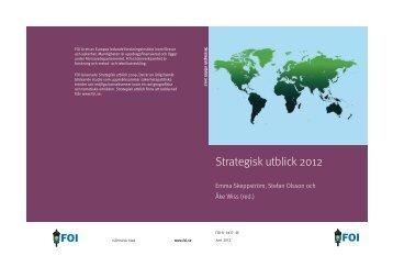 Strategisk utblick 2012. - FOI