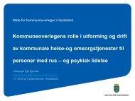 Kommuneoverlegens rolle - Fylkesmannen.no