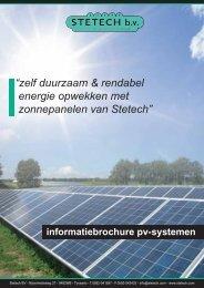 Klik hier voor de informatiebrochure over zonnepanelen ... - Stetech bv