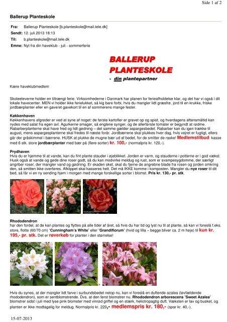 rosenvang planteskole