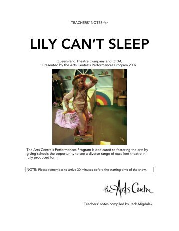 LILY CAN'T SLEEP - Arts Centre