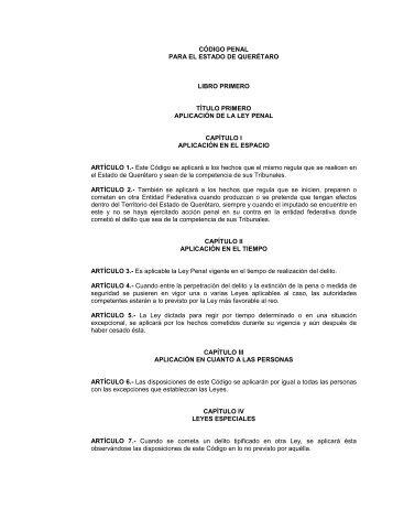 Código Penal para el Estado de Querétaro