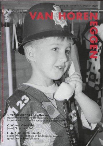 JÊhargang 41 . nummer 3 . oktober 2000 T. van Beukering en H ...