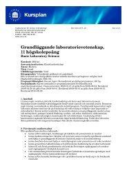 Grundläggande laboratorievetenskap 11 hp - Institutionen för klinisk ...