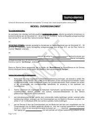 Model overeenkomst contract B – Commerciële niet ... - Buma/Stemra