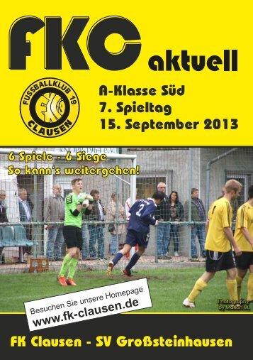 FKC Aktuell - 07. Spieltag 2013/2014