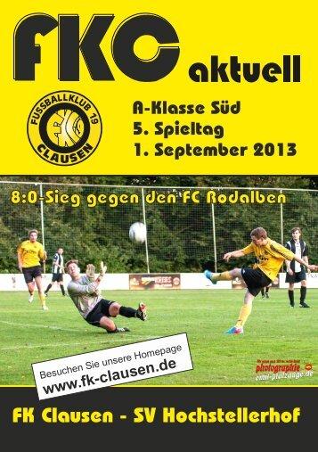 FKC Aktuell - 05. Spieltag - Saison 2013/2014