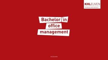 Bachelor in office management - Katholieke Hogeschool Leuven