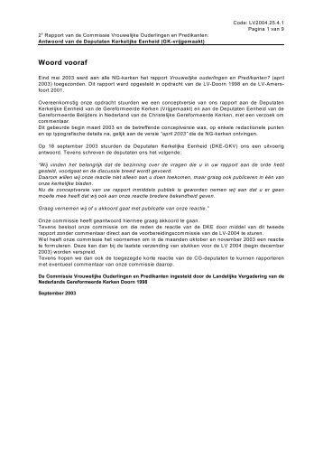 2e rapport - Nederlands Gereformeerde Kerken