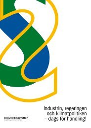 Industrin, regeringen och klimatpolitiken – dags för handling!
