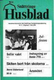 1985-1 - Snättringe fastighetsägareförening