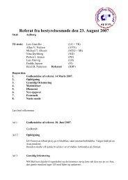 Referat fra bestyrelsesmøde den 23. August 2007 - Velkommen