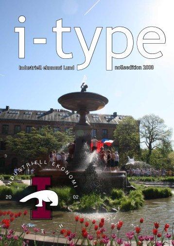 I-type Nolleedition 2008 - Sektionen för Industriell ekonomi vid ...