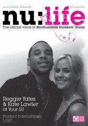 Reggie Yates & Kate Lawler - Northumbria Students Union ...
