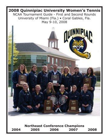 NCAA Tourament Media Guide - May 8, 2008 - Quinnipiac University