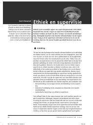 Ethiek en supervisie - Christelijke Hogeschool Ede