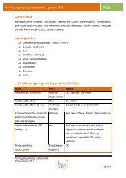 Verslag vergadering oudercomité 7 januari 2013